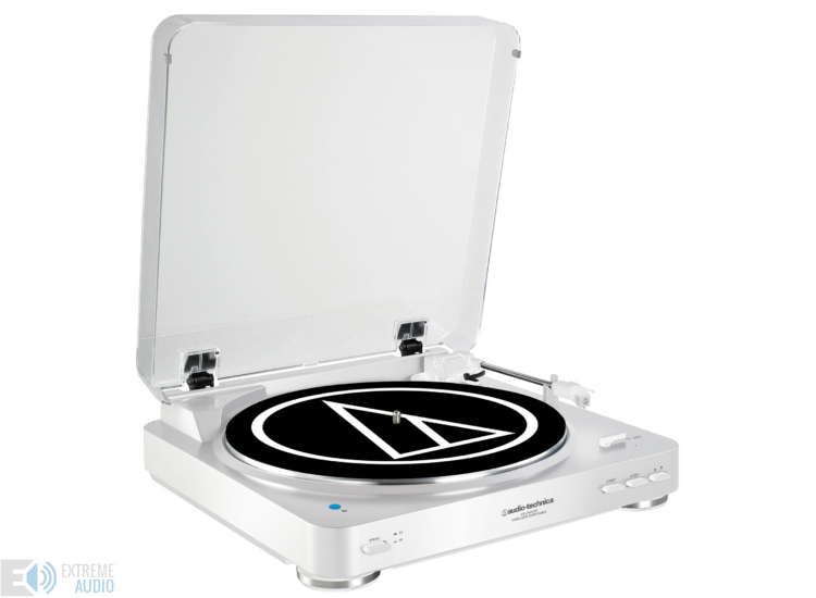 Audio-Technica AT-LP60BT Automata Lemezjátszó Bluetooth kapcsolattal - Fehér