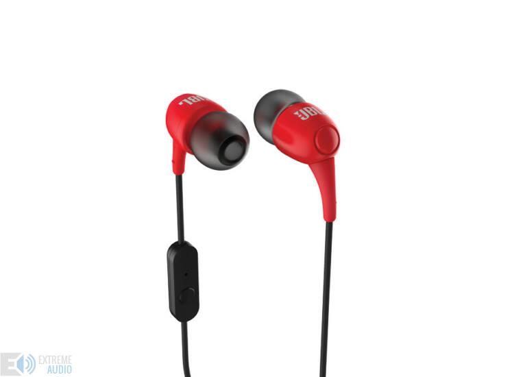 JBL T100 fülhallgató, piros