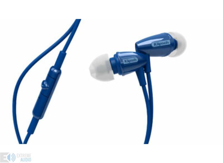 Klipsch R3M mikrofonos fülhallgató kék