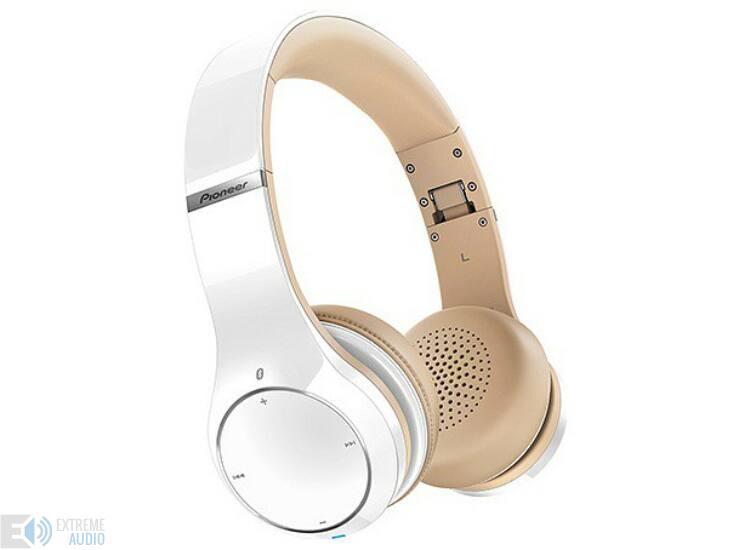 PioneerSE MJ 771BT-K Bluetooth fejhallgató fehér bézs