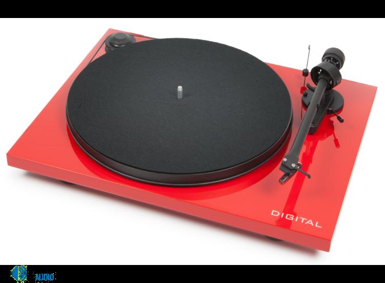 Pro-Ject Essential II Digital Phono analóg lemezjátszó piros Ortofon OM-5e