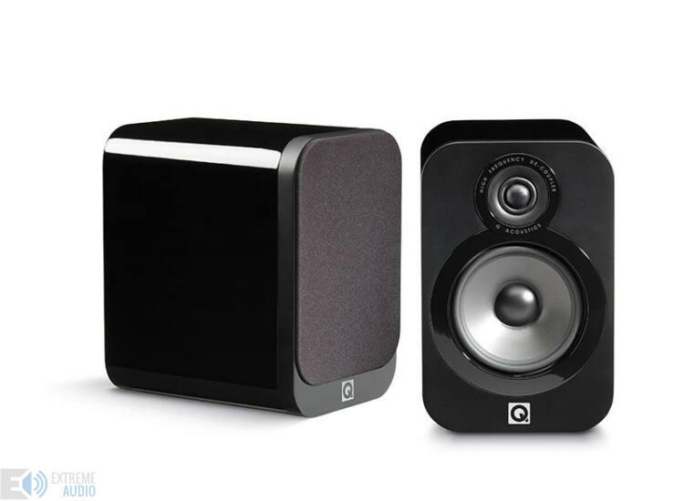 Qacoustics 3020 Állványra/polcra helyezhető hangsugárzó lakk fekete