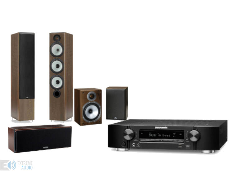Marantz NR1504 + Monitor Audio MR6 + MR1 + MR Center 5.0 házimozi szett, dió