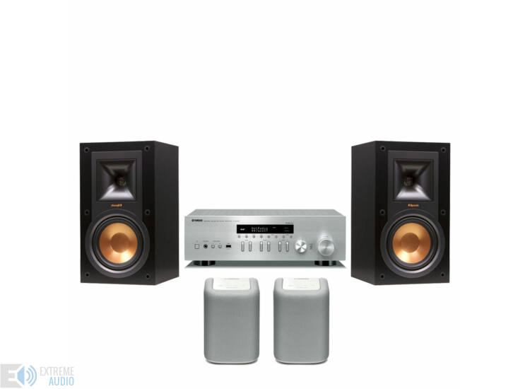 Yamaha R-N402D + Klipsch R-15M + 2db Yamaha WX-010 MusicCast zóna hangszóró fehér