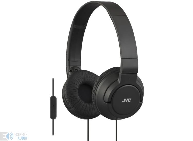 JVC HA-SR185B COLOURFUL LIGHTWEIGHT mikrofonos fejhallgató fekete