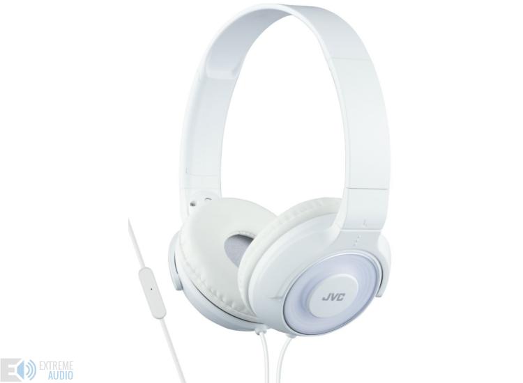 JVC HA-SR225W Premium Sound mikrofonos fejhallgató fehér